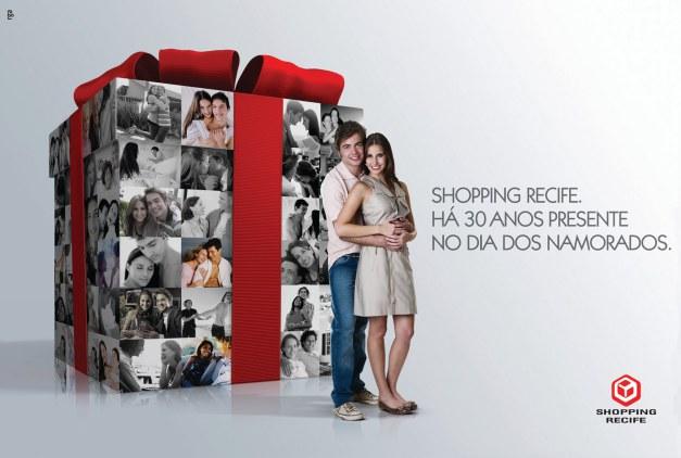 Anúncio de dia dos namorados do Shopping Recife