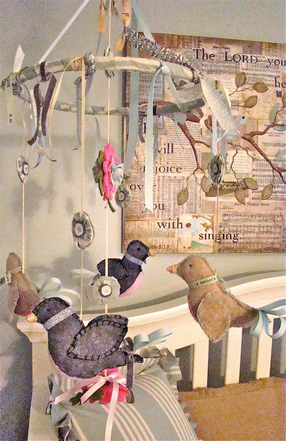 Vintage neutral girls nursery design dazzle - Designer babymobel ...