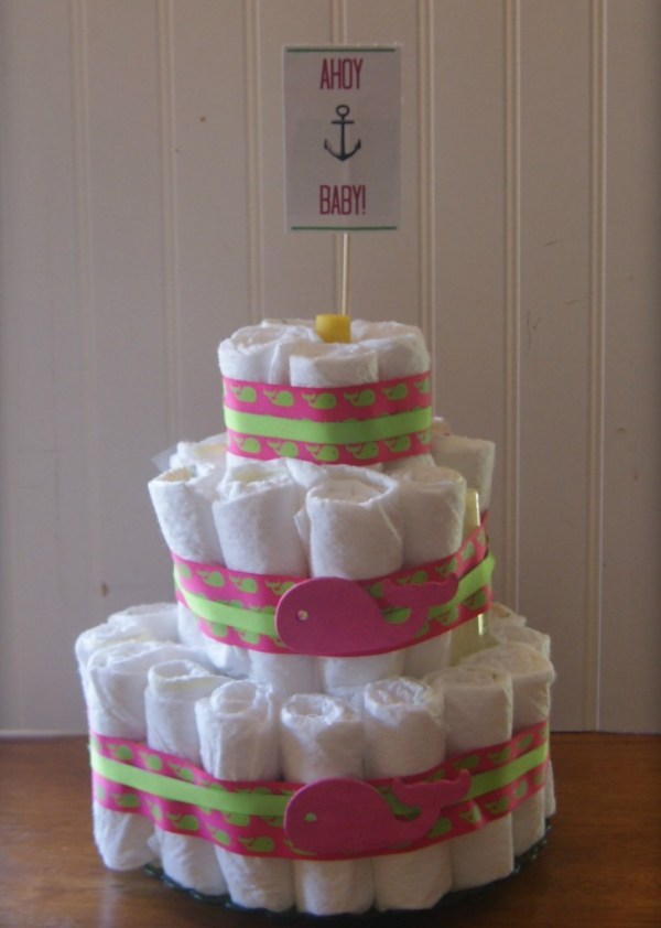 how to make a cute diaper cake