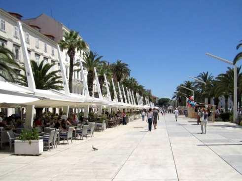 Along the Sea in Split, Croatia