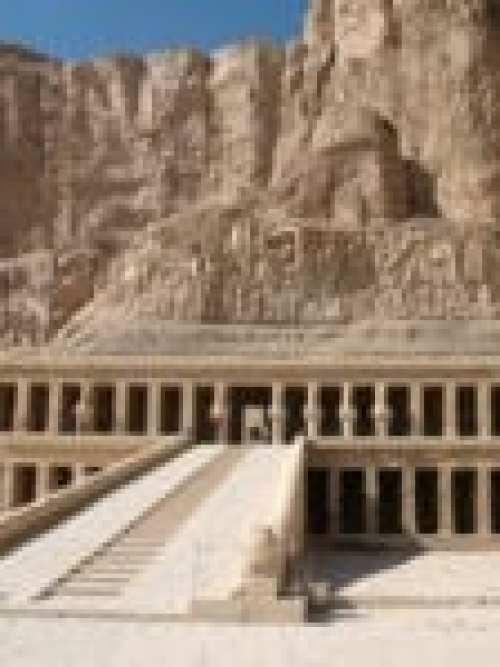 The temple of queen Hatshepsut (1515 B.C.) - a monumental mausoleum