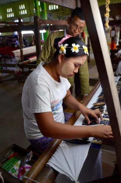 Weaving in Myanmar