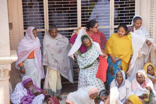 Widows at the Holi Festival