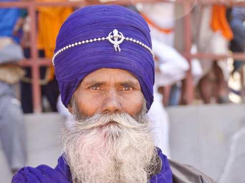 Nihang Warrior at the Hola Mahalla Festival