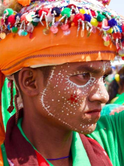 Rathva tribal members at the Kavant Fair