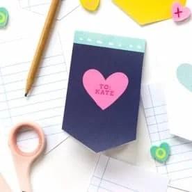 Mini Valentine's Day Printable Notepad
