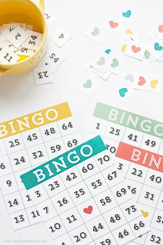 Printable & Cute Bingo Cards - Download for Free over at Design Eat Repeat!