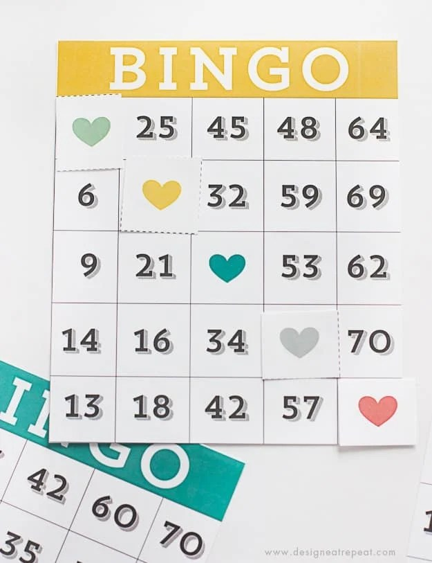 Printable & Cute Bingo Cards - Download free over at Design Eat Repeat!