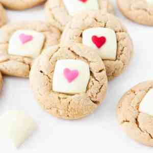 Valentine's Day White Chocolate Peanut Butter Cookies