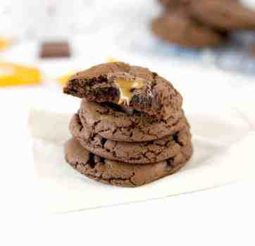Chewy Double Chocolate Caramel Cookies