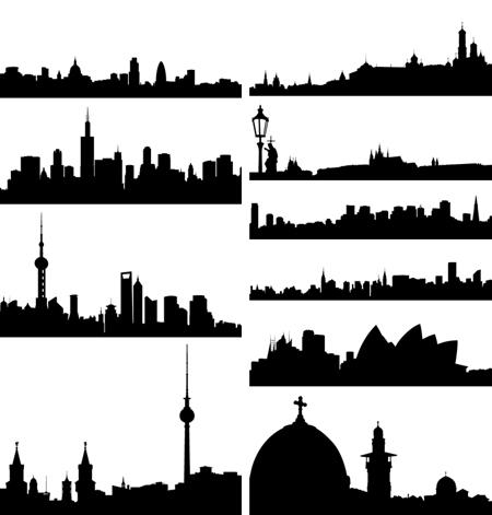 city skylines vectors