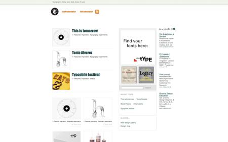 typography daily screenshot