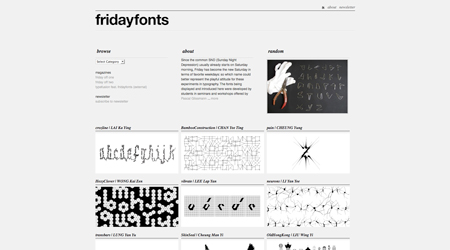 friday fonts screenshot
