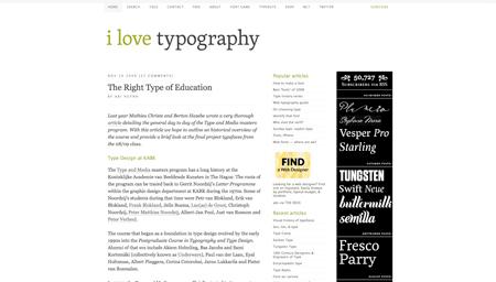 28 great typography blogs & websites