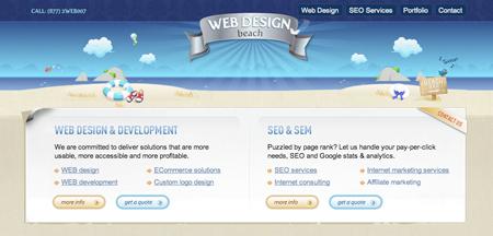 web design beach