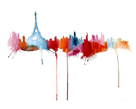 abstract-watercolor-paintings-famous-cities-elena-romanova-2-605x484