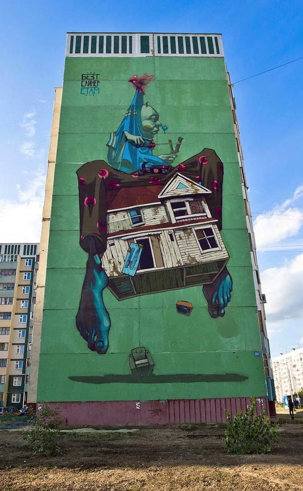 graffiti by polish artists Sainer and Bezt
