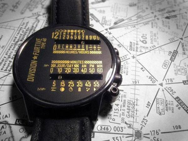 18. Dual Linear Wrist Watch by Division Furtive