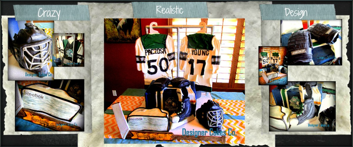 3D Sculpted Hockey Cake Banner