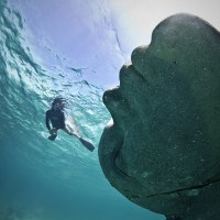 Ocean Atlas in Nassau, Bahamas by Jason deCaires Taylor
