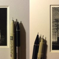 Miniature Drawings of Urban Landscapes by Taylor Mazer