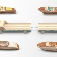 Madeindreams miniature wooden toy boats for Riva