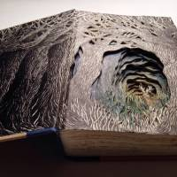 3D sculptures made from books by Isobelle Ouzman