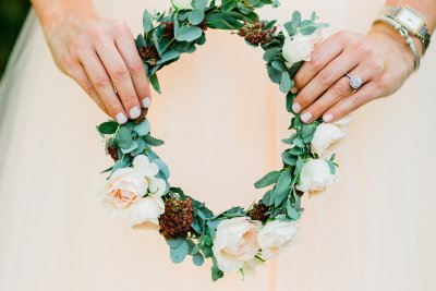 floral crown by florist in West Chicagoland