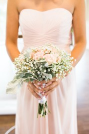 light pink and white bridesmaid bouquet
