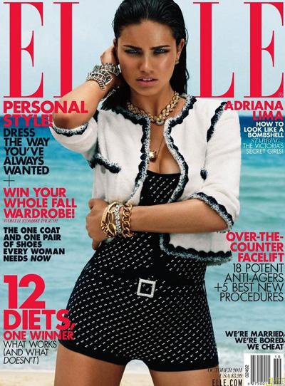 Victoria's Secret Models for Elle US October 2011