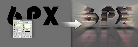3D Layered Text Effect