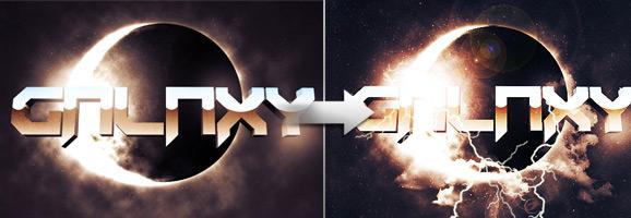 Retro Sci-fi 3D Text Effect
