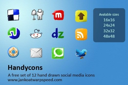 icon pack30 55 Free Social Networking PNG/ICO Icon Packs