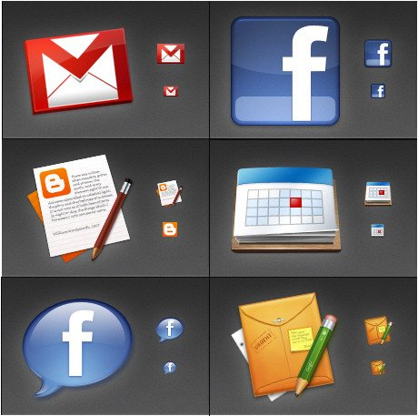part2 free icon packs 15 55 Free Social Networking PNG/ICO Icon Packs