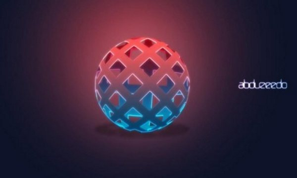 Easy 3D Globe in Photoshop width=