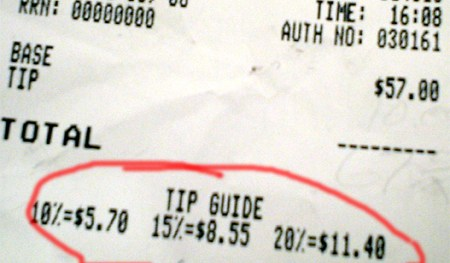 tip guide receipt