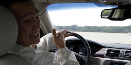 GM test drive detroit fun turning