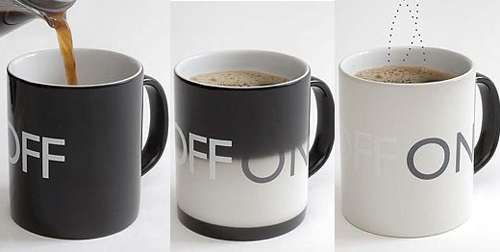 on off coffeee mug