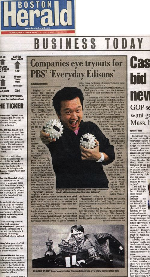 Boston Herald aaron tang everyday edisons pbs tv show