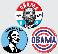 Free Obama butons
