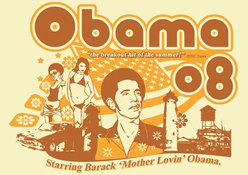 barak obama is the man badass shirt 2008