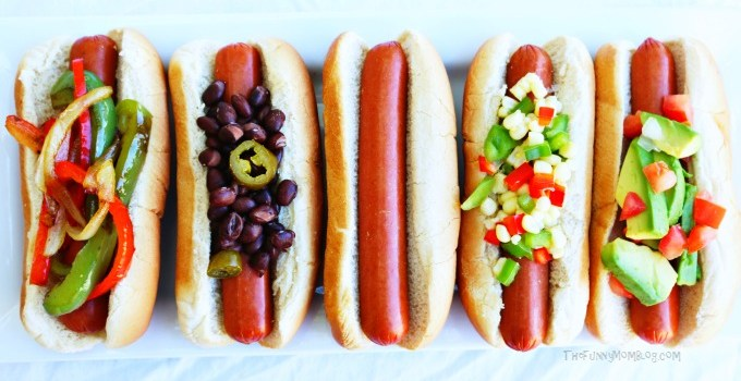 Move Over Taco Bar – It's Time For The Hot Dog Toppings Bar!