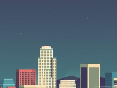 8 Bit Cityscape iPhone 5 Wallpapers Desktop Background