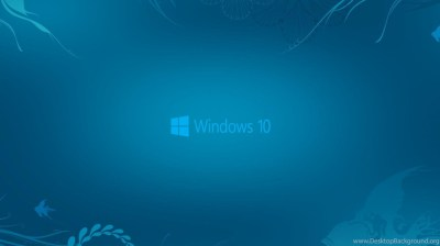 Windows 10 Wallpapers In Abstract Deep Blue See And New Logo Hd ... Desktop Background