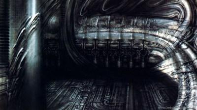 Biomechanical Landscape 007 Surrealist H R Giger Art Wallpapers ... Desktop Background