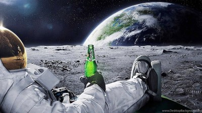 Astronaut Drinking Carlsberg Beer Moon Space Wallpapers ... Desktop Background
