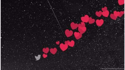 Flying Hearts 4K Love Wallpapers Desktop Background