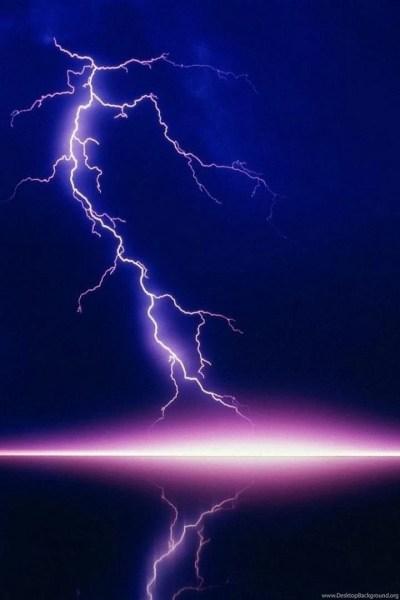 Beautiful purple lightning lake iphone hd wallpaper.jpg Desktop Background