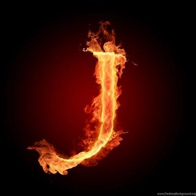 J Fire Letters Hd Wallpapers Desktop Background