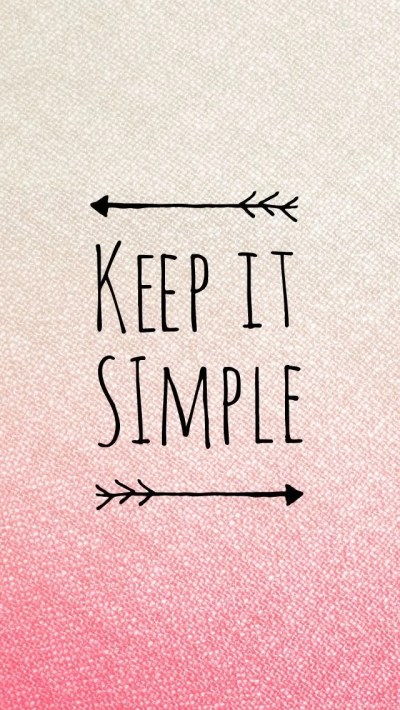 Keep It Simple Pink Quote iPhone Wallpapers @PanPins Desktop Background